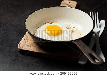 Sunny Side Up Egg In Cast Iron Pan