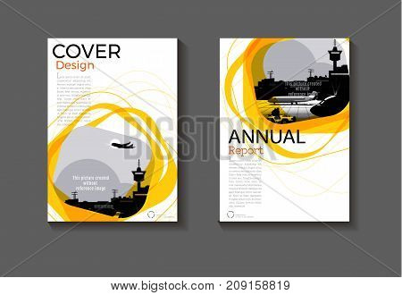 yellow cover Circle design modern book cover abstract Brochure cover templateannual report magazine and flyer layout Vector a4