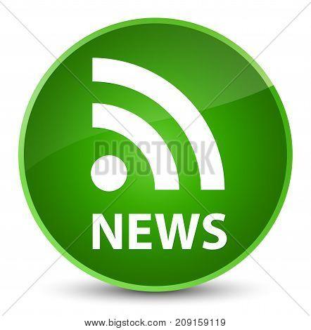 News (rss Icon) Elegant Green Round Button