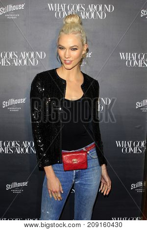 LOS ANGELES - OCT 11:  Karlie Kloss at the What Goes Around Comes Around One Year Anniversary Party at the What Goes Around Comes Around Store on October 11, 2017 in Beverly Hills, CA