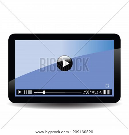 tablet computer screen isolated on white background
