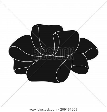 Bow, ribbon, decoration, and other  icon in black style. Textile, decor, gift icons in set collection