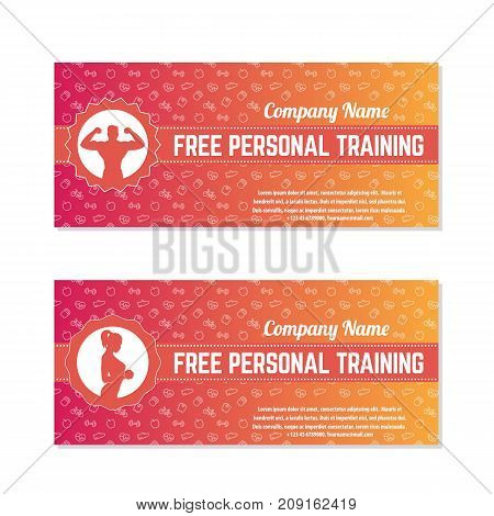 Free personal training, gift vouchers for fitness club or gym