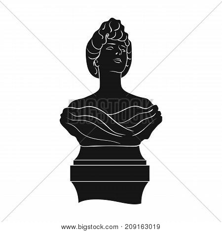 Monument, single icon in black style.Monument vector symbol stock illustration .