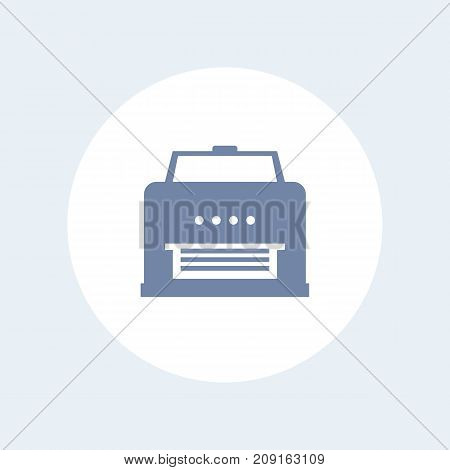 printer icon isolated on white, eps 10 file, easy to edit