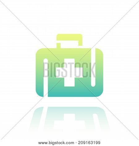 First aid kit icon over white, vector illustration, eps 10 file, easy to edit