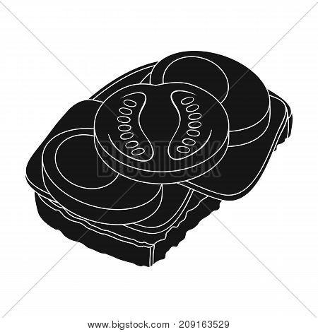 Sandwiches, single icon in black style.Sandwiches, vector symbol stock illustration .
