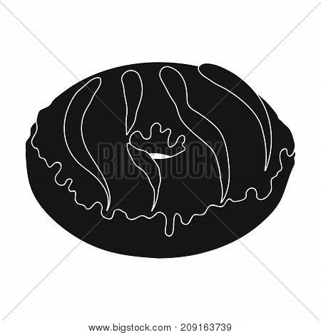 Kitty , single icon in black style.Kitty, vector symbol stock illustration .