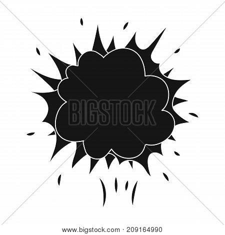 Explosion, single icon in black style.Explosion, vector symbol stock illustration .