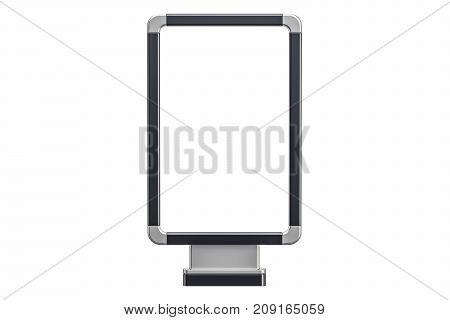Empty outdoor light box billboard. 3D rendering isolated on white background