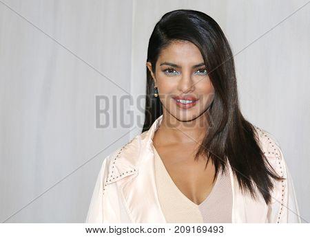 Priyanka Chopra at the Hammer Museum Gala In The Garden held at the Hammer Museum in Westwood, USA on October 14, 2017.