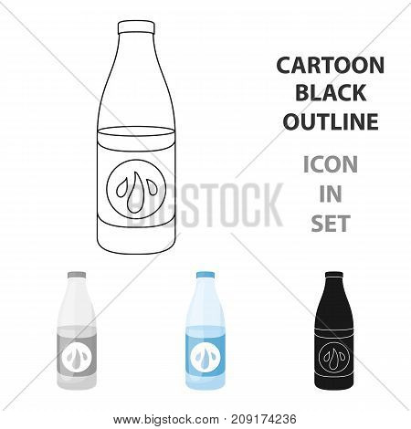 Lotion icon in cartoon style isolated on white background. Skin care symbol vector illustration.