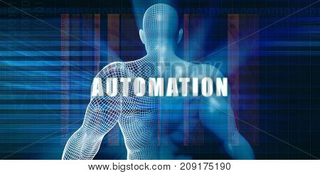 Automation as a Futuristic Concept Abstract Background 3D Illustration Render