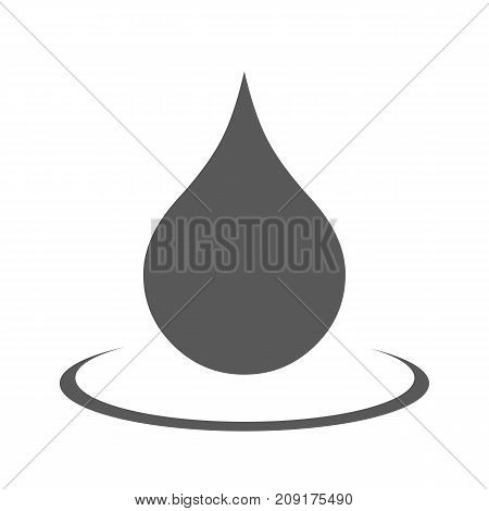 Water drop icon. Vector simple illustration of water drop icon isolated on white background