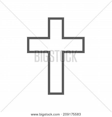 Catholic cross icon. Vector simple illustration of catholic cross icon isolated on white background