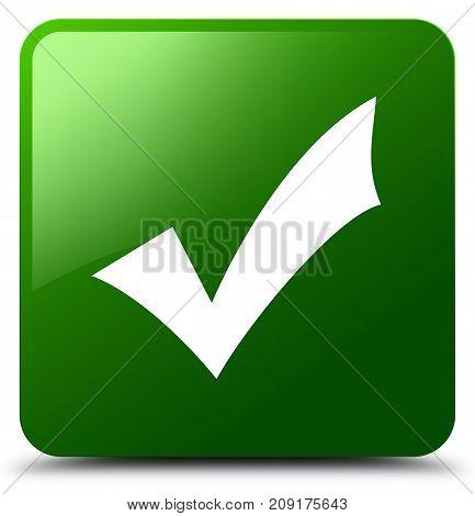 Validation Icon Green Square Button