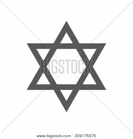 David star icon. Vector simple illustration of David star icon isolated on white background