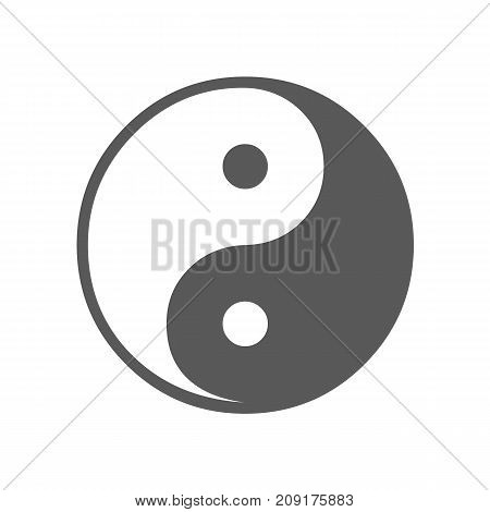 Ying yang symbol of harmony and balance icon. Vector simple illustration of Ying yang symbol icon isolated on white background
