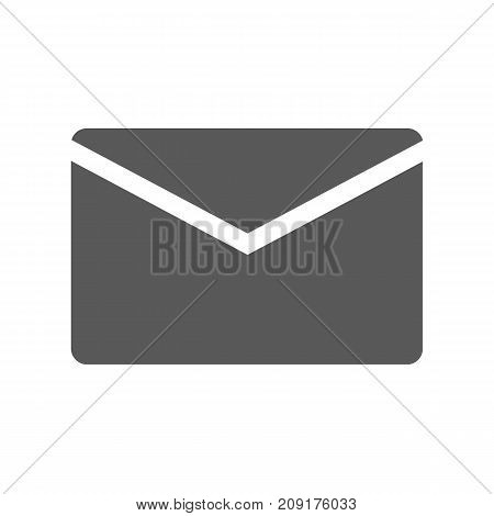 Mail icon. Vector simple illustration of mail icon isolated on white background