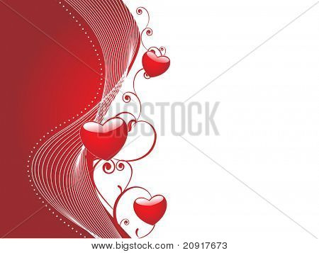 valentine card  with abstract heart elements