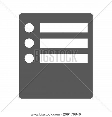 Checklist icon. Simple black illustration of checklist vector icon isolated on white background