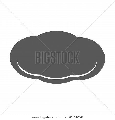 Cloud icon vector simple isolated on white background