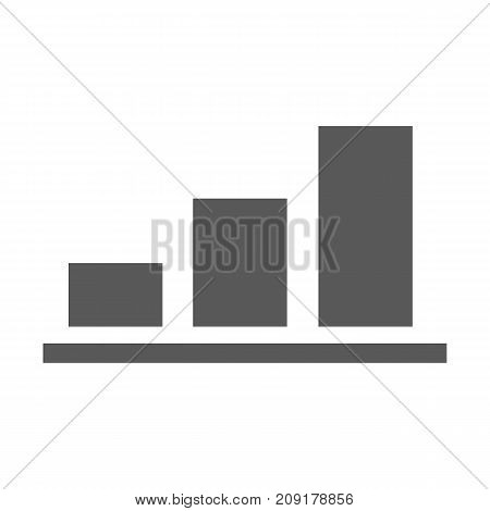 Chart icon vector simple isolated on white background