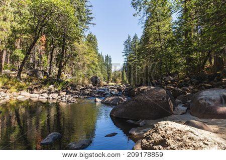 River In Yosemite National Park