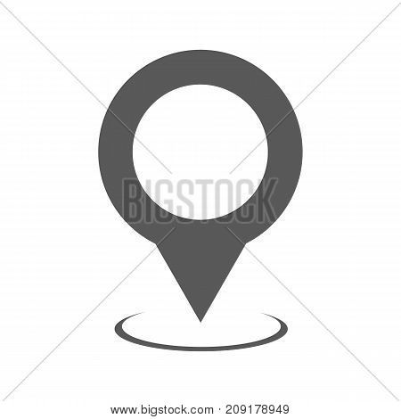 Map pointer icon vector simple isolated on white background