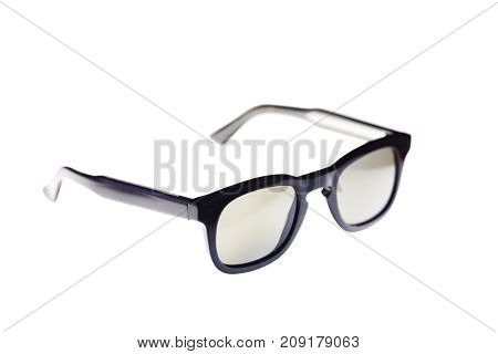 modern style Glasses isolated on white background