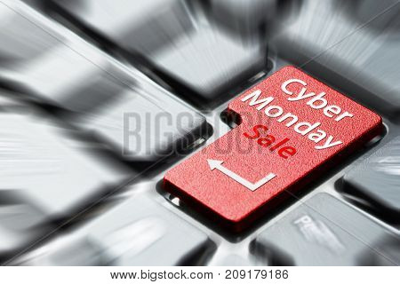 Keyboard button with Cyber Monday Sale symbol