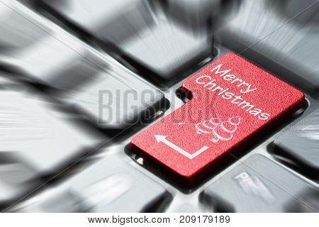 Keyboard button with Merry Christmas symbol