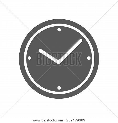 Clock icon vector simple isolated on white background