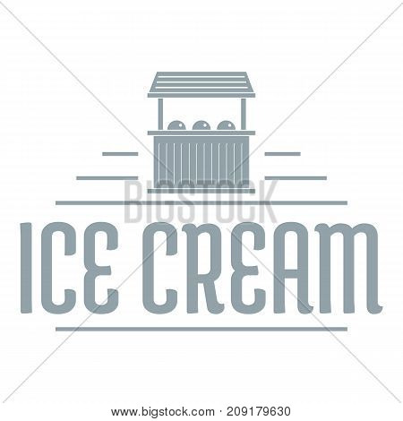 Ice cream stall logo. Simple illustration of ice cream stall vector logo for web