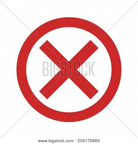No sign icon vector simple isolated on white background