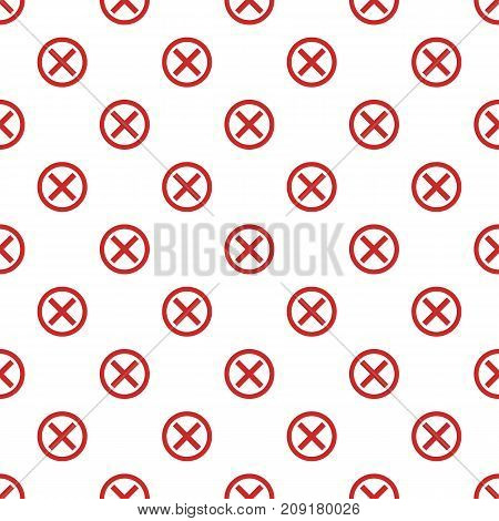 No sign pattern seamless. Repeat illustration of no sign pattern vector geometric for any web design