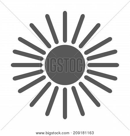 Sun icon vector simple isolated on white background