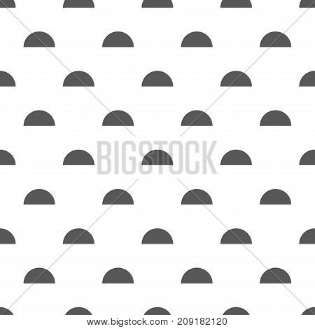 Modern vector abstract seamless geometric pattern with semicircles in simple style