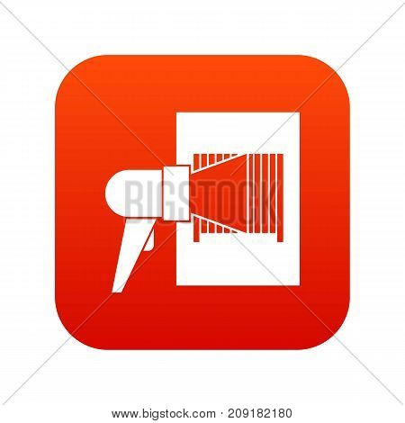 Bar code on cargo icon digital red for any design isolated on white vector illustration