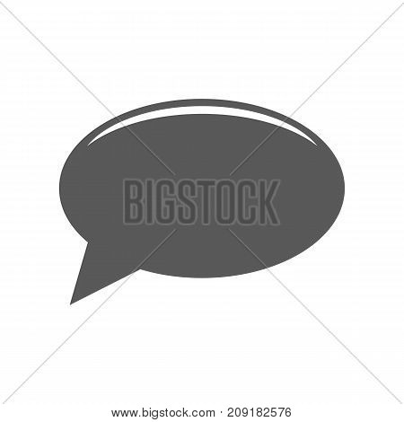 Chat icon. Vector simple illustration of chat icon isolated on white background
