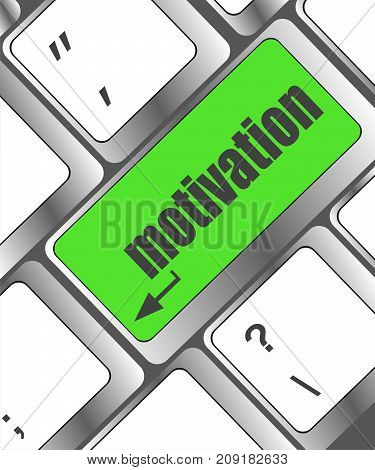 Motivation Enter Button On Computer Keyboard Key