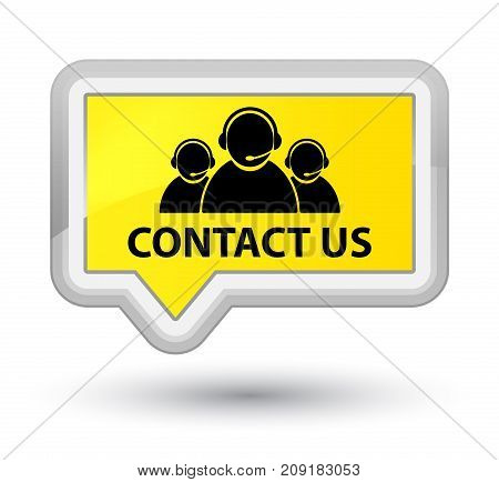 Contact Us (customer Care Team Icon) Prime Yellow Banner Button
