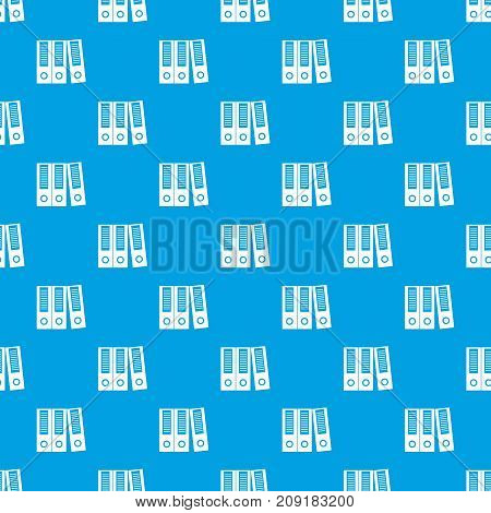 Office folders pattern repeat seamless in blue color for any design. Vector geometric illustration