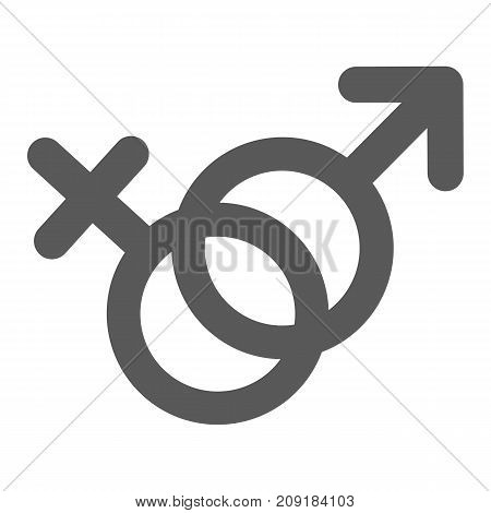 Female and man gender symbol icon. Vector simple illustration of female and male gender symbol icon isolated on white background