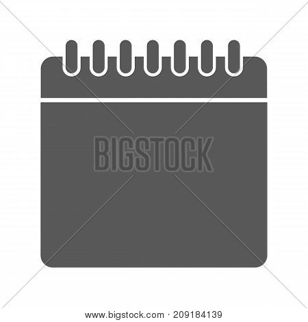 Calendar icon. Vector simple illustration of calendar icon isolated on white background