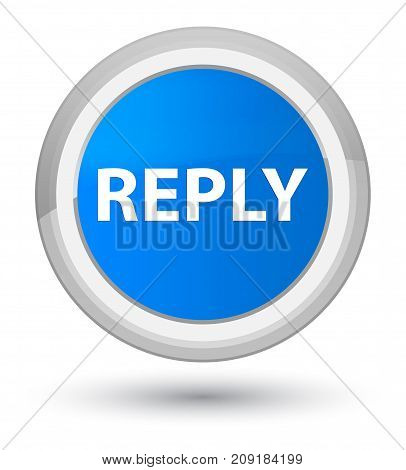 Reply Prime Cyan Blue Round Button