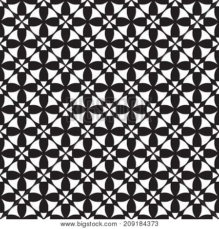 Seamless vintage ornamental pattern background in black and white
