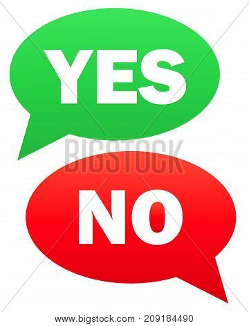 Yes and no icon. Vector simple illustration of yes and no icon isolated on white background