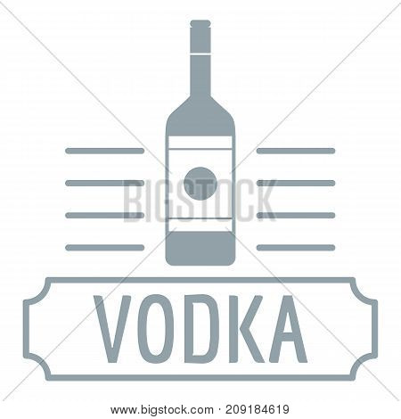 Vodka logo. Simple illustration of vodka vector logo for web