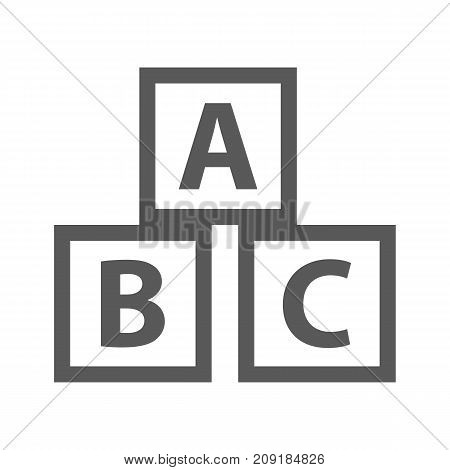 Education abc blocks icon. Vector simple illustration of education abc blocks icon isolated on white background